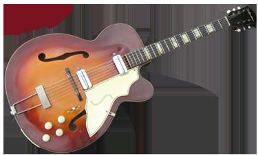 Silvertone 1425 Archtop 1950's Sunburst   Reverb