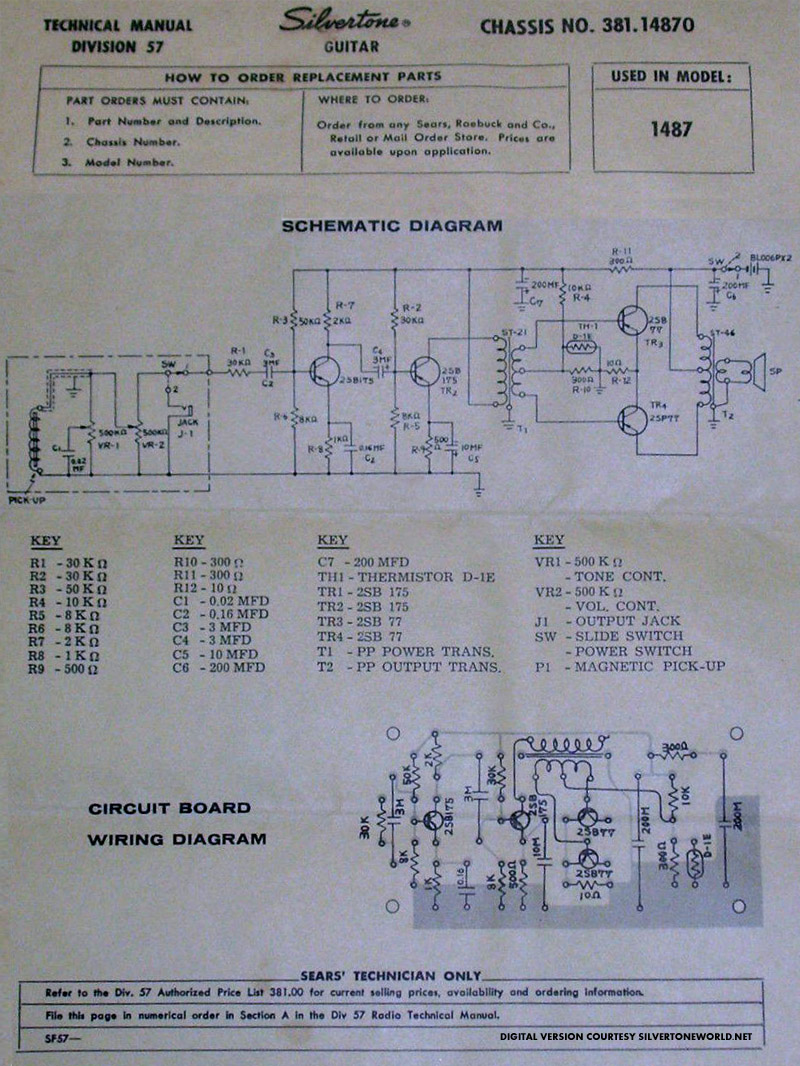 silvertone world electric guitars 1960s model 1445 schematic Jbl Wiring Diagram silvertone world electric guitars 1960s model 1445 schematic & manual Pressure Switch Wiring Diagram