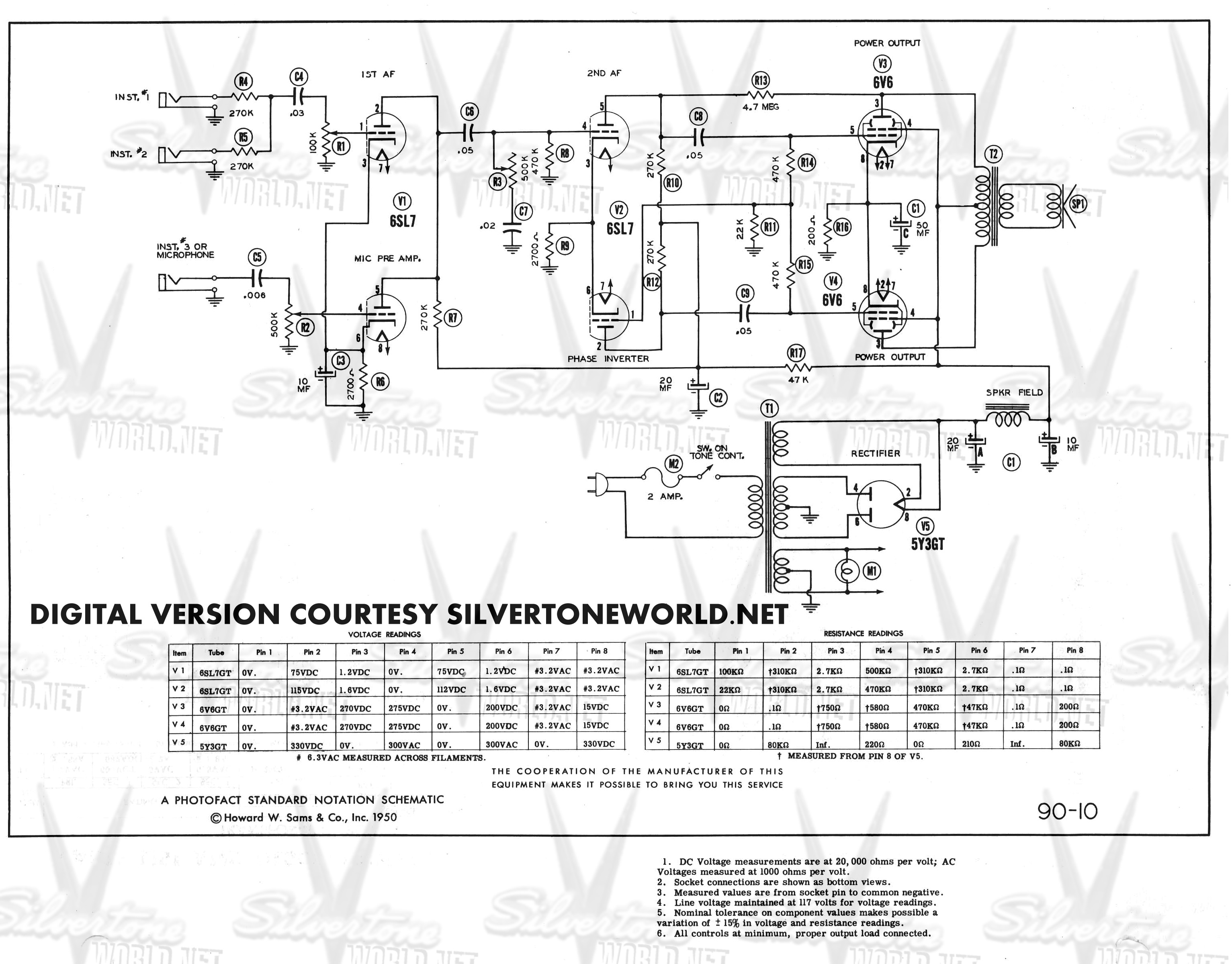silvertone world division 57 schematics, manuals and publications Jbl Wiring Diagram silvertone wiring diagram  #10 Pressure Switch Wiring Diagram